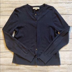 LOFT Navy Blue Cardigan